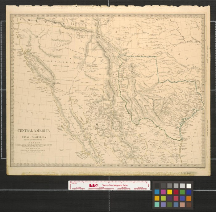 Central America [Map] II: Including Texas, California and the ...