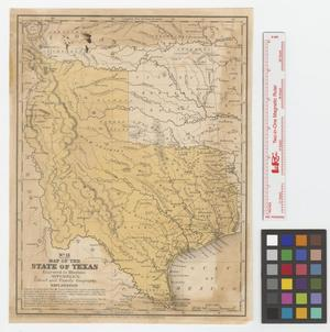 Primary view of object titled 'Map of the state of Texas : Engraved to illustrate Mitchell's, School and Family Geography.'.