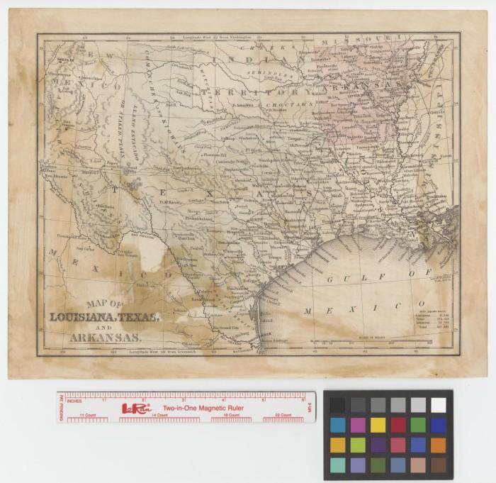 Map Of Louisiana Texas And Arkansas The Portal To Texas History