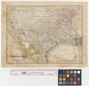 Primary view of object titled 'Map of Louisiana, Texas, and Arkansas.'.
