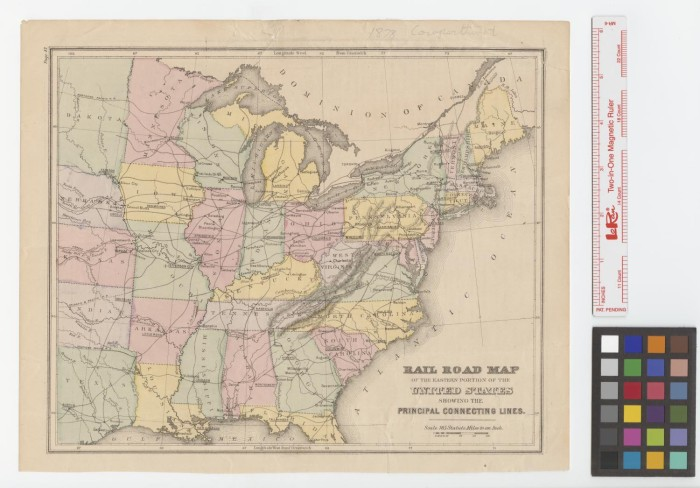 Rail road map of the eastern portion of the United States ...