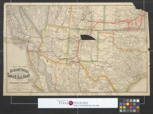 Primary view of object titled 'Map of the Atchison, Topeka and Santa Fe Railroad Company and its leased roads and connections.'.