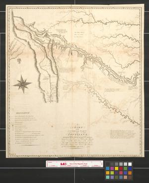 Primary view of object titled 'A chart of the internal part of Louisiana including all the hitherto unexplored countries, lying between the River La Platte of the Missouri on the N., and the Red River on the S., the Mississippi east, and the mountains of Mexico west, with a part of New Mexico & the Province of Texas.'.
