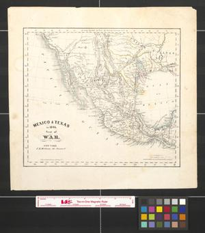 Primary view of object titled 'Mexico & Texas in 1846: Seat of war.'.
