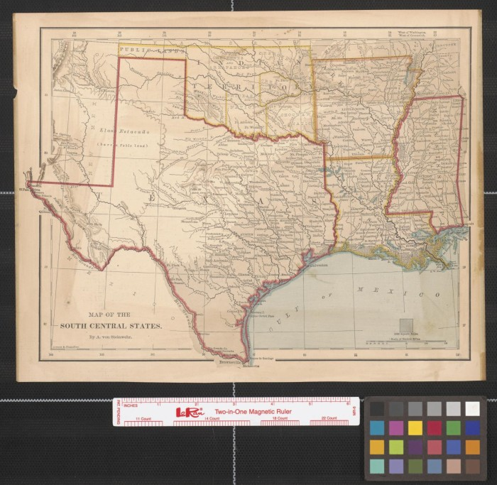 Map Of South Central Texas.Map Of The South Central States The Portal To Texas History