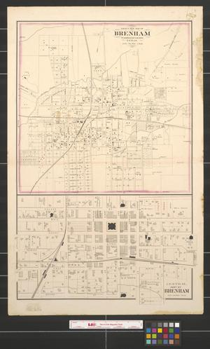 Primary view of object titled 'Gray's new map of Brenham: Washington County, Texas.'.