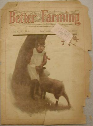 "Primary view of object titled '[""Better Farming"" magazine vol XLIV, June 1921]'."