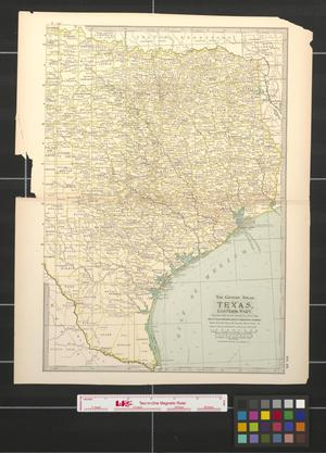 Primary view of object titled 'The Century Atlas: Texas, eastern part.'.
