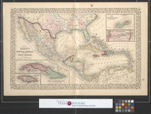 Primary view of object titled 'Map of Mexico, Central America, and the West Indies.'.