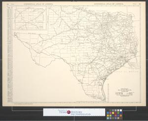 Primary view of object titled 'Black and white mileage map, Texas.'.