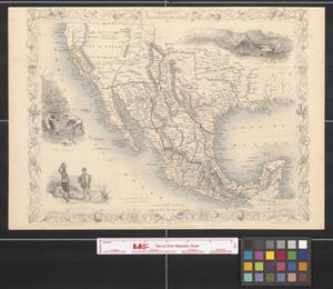 Primary view of Mexico, California and Texas.