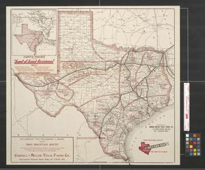 Primary view of object titled 'Iron mountain Route to all Parts of Texas: The way to Texas'.