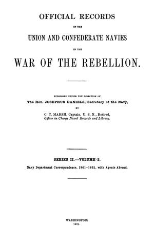 Primary view of object titled 'Official Records of the Union and Confederate Navies in the War of the Rebellion. Series 2, Volume 2.'.