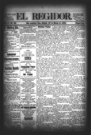 El Regidor. (San Antonio, Tex.), Vol. 2, No. 63, Ed. 1 Saturday, March 29, 1890