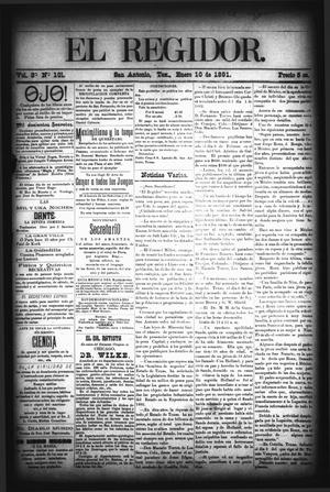 El Regidor. (San Antonio, Tex.), Vol. 3, No. 101, Ed. 1 Saturday, January 10, 1891