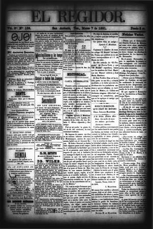 El Regidor. (San Antonio, Tex.), Vol. 3, No. 108, Ed. 1 Saturday, March 7, 1891