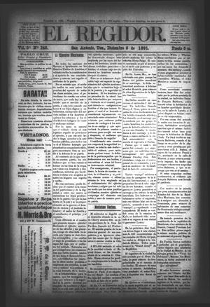 El Regidor. (San Antonio, Tex.), Vol. 3, No. 145, Ed. 1 Saturday, December 5, 1891