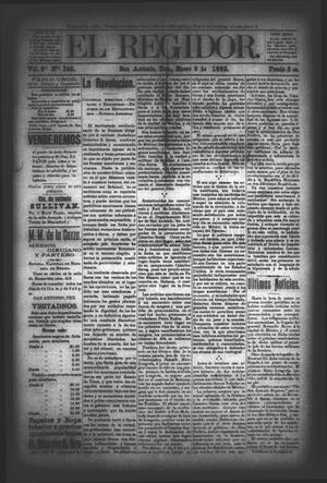 El Regidor. (San Antonio, Tex.), Vol. 3, No. 149, Ed. 1 Saturday, January 9, 1892