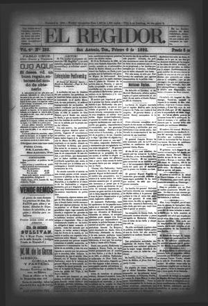 El Regidor. (San Antonio, Tex.), Vol. 4, No. 153, Ed. 1 Saturday, February 6, 1892
