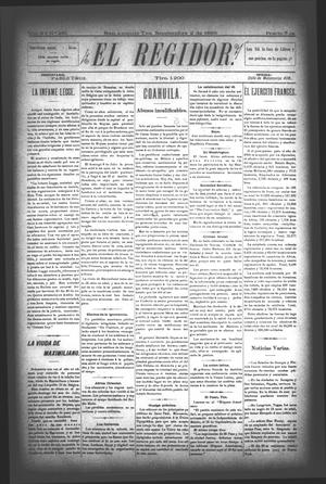 El Regidor. (San Antonio, Tex.), Vol. 6, No. 231, Ed. 1 Saturday, September 2, 1893