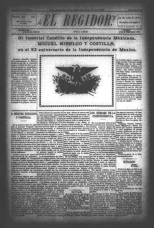 El Regidor. (San Antonio, Tex.), Vol. 6, No. 233, Ed. 1 Saturday, September 16, 1893