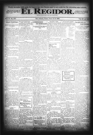 El Regidor. (San Antonio, Tex.), Vol. 12, No. 513, Ed. 1 Thursday, June 22, 1899