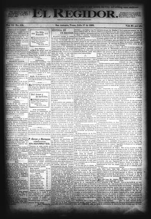 El Regidor. (San Antonio, Tex.), Vol. 12, No. 518, Ed. 1 Thursday, July 27, 1899