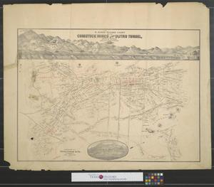 Primary view of object titled 'W. Rose's revised chart of the Comstock Mines and Sutro Tunnel, State of Nevada.'.
