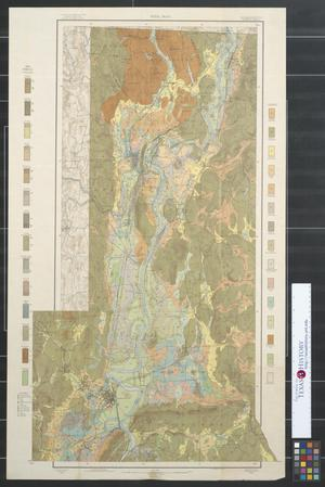Primary view of object titled 'Soil map, Massachusetts, Amherst sheet.'.