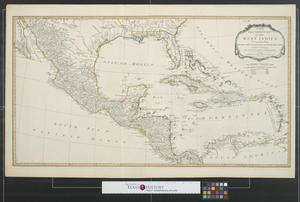 Primary view of A new and complete map of the West Indies comprehending all the coasts and islands known by that name.