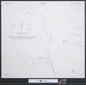 Primary view of object titled 'Matagorda Bay system : Gulf and mainland shoreline changes 1856 through 1957, Lavaca Bay south area, Texas.'.