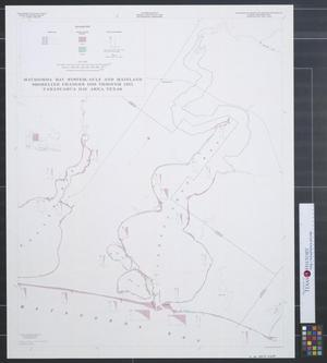 Primary view of object titled 'Matagorda Bay system : Gulf and mainland shoreline changes 1856 through 1957, Carancahua Bay area Texas.'.