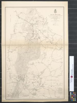 Primary view of object titled 'South Mountain showing the positions of the forces of the United States and of the enemy during the battle fought by the Army of the Potomac : Under the command of Major General G.B. McClellan, Sept . 14th 1862.'.