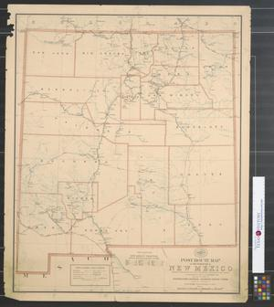 Primary view of object titled 'Post route map of the territory of New Mexico : Showing post offices with the intermediate distances on mail routes in operation on the 1st of September 1898.'.
