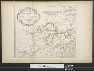 Primary view of Canada, Louisiane et terres angloises [Sheet 1].