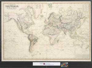 Primary view of object titled 'A Chart of the World on Mercator's Projection : Reduced from the large chart by J. Purdy, 1824.'.