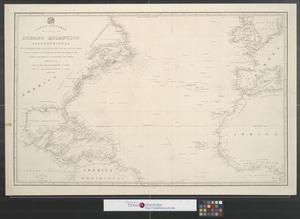 Primary view of Del oceano Atlantico Septentrional que comprende desde el equator hasta 58  [grados] de latitud norte y entre la longitud de 93 [grados]  á ocidente y 15 [grados] al oriente del meridiano de Cadiz.