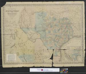 Primary view of object titled 'Richardson's new map of the state of Texas including part of Mexico.'.