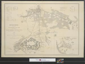 Primary view of object titled 'Battles of Mexico : Survey of the line of operations of the U.S. Army, under command of Major General Winfield Scott, on the 19th & 20th August & on the 8th, 12th & 13th September, 1847.'.