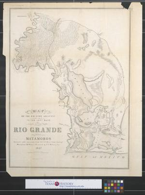 Primary view of object titled 'Map of the country adjacent to the left bank of the Rio Grande below Matamoros.'.