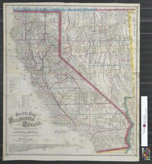 Primary view of object titled 'Map of the states of California and Nevada.'.