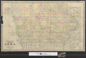 Primary view of object titled 'A township map of the state of Iowa.'.