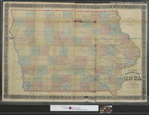 Primary view of object titled 'Chapman's sectional map of the state of Iowa :  Compiled from the United States Surveys and other authentic sources.'.