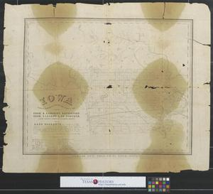 Primary view of object titled 'Iowa showing routes of proposed rail roads & c, 1852.'.