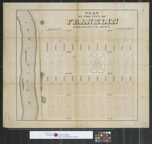 Primary view of object titled 'Plan of the city of Franklin, Franklin Co., Iowa: 1st addition.'.