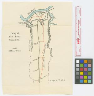 Primary view of object titled 'Sketch map of proposed army camp site at West Point, Ky.'.