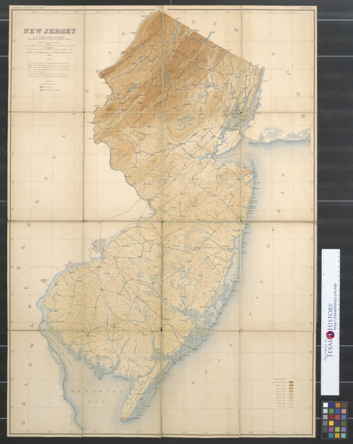 New Jersey from original surveys based on the triangulation of the