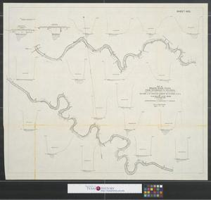 Primary view of object titled 'Map of Brazos River, Texas: from Richmond to Velasco.'.