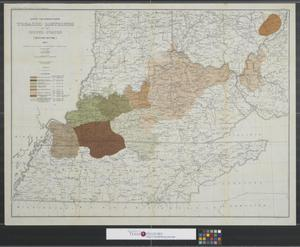 Primary view of object titled 'Export and manufacturing tobacco districts of the United States (western section) to accompany bulletin prepared by E.H. Mathewson.'.