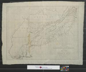 Primary view of Map of Reconnaissance exhibiting the country between Washington and New Orleans with the routes examined in reference to a contemplated National Road between these two cities.